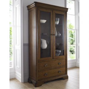 Rochelle Oak Double Display Cabinet