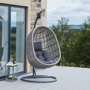 Stone Grey Single Hanging Chair