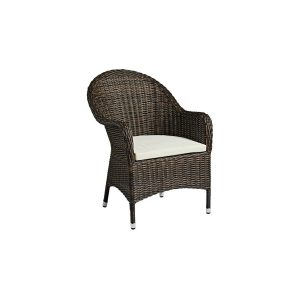 Outdoor Brown Weave High-backed Armchair