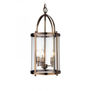 Imperial Lantern Pendant With Triple Lamp Fitting