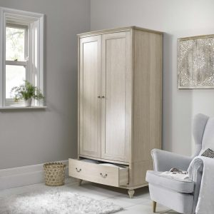 Bordeaux Chalk Oak Double Wardrobe