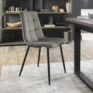 Tapered Back Chair with Square Stitched Pattern  (Pair)