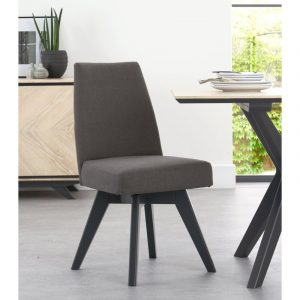Upholstered Swivel Chair – Cold Steel (Pair)