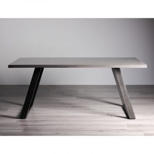 Hirst Grey Glass 6 Seater Dining Table