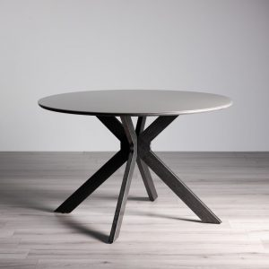 Hirst Grey Glass 4 Seater Dining Table