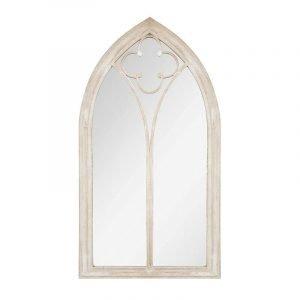 Large Antique Metal Gothic Garden Mirror