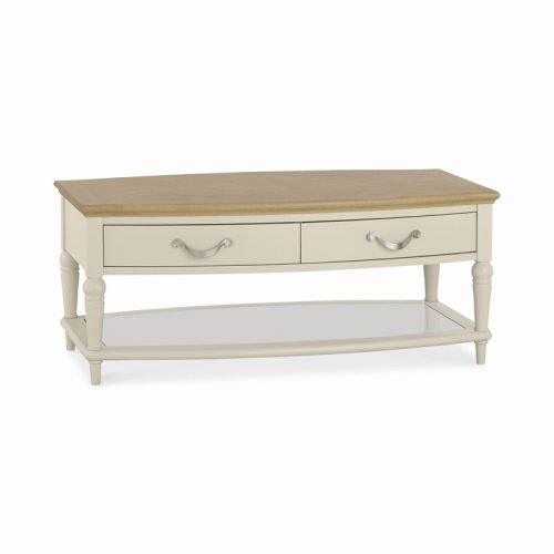 Montreux Pale Oak and Antique White Coffee Table With Drawers